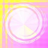 Roze Gele Abstracte Achtergrond Stock Illustratie