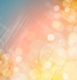 Roze gele blauwe bokehachtergrond Royalty-vrije Stock Afbeelding