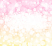 Roze, gele en witte bokeh abstracte achtergrond Royalty-vrije Stock Foto