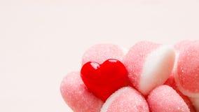 Roze gelei of heemst met suikerclose-up Royalty-vrije Stock Fotografie
