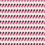 Roze geneigd nagellak naadloos patroon Stock Afbeeldingen