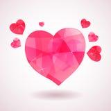 Roze geometrisch hart stock illustratie