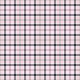 Roze geruit Schots wollen stof naadloze vectorpatronen Geruite plaidtextuur Geometrische vierkante achtergrond voor stof stock illustratie