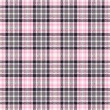 Roze geruit Schots wollen stof naadloze vectorpatronen Geruite plaidtextuur Geometrische vierkante achtergrond voor stof royalty-vrije illustratie