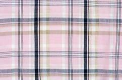 Roze geruit Schots wollen stofpatroon Royalty-vrije Stock Afbeelding