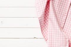 Roze geruit servet Stock Afbeelding