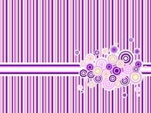 Roze gestripte achtergrond Stock Afbeeldingen