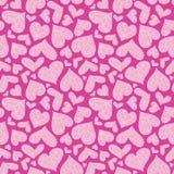 Roze geweven harten vector naadloos patroon royalty-vrije stock foto