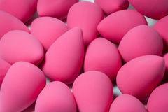 Roze gezichtsspons voor schoonheidsmiddelen Stock Afbeelding