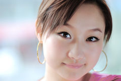Roze girl'face Royalty-vrije Stock Afbeelding