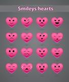 Roze glimlachen op de dag van Valentine Stock Afbeelding