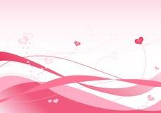 Roze Golven stock illustratie
