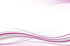 Roze golven op wit Royalty-vrije Stock Fotografie