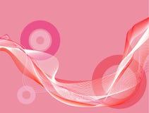 Roze golvende strepen vector illustratie
