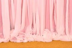Roze Gordijn en tapijt royalty-vrije stock afbeeldingen