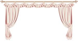 Roze gordijnen stock illustratie