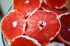 Roze Grapefruit Stock Foto's