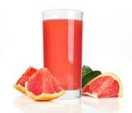 Roze grapefruit juice royalty-vrije stock afbeeldingen