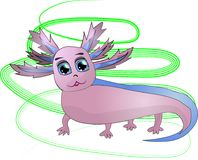 Roze grappige axolotl royalty-vrije illustratie