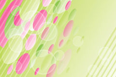 Roze-groene de zomerachtergrond Stock Afbeeldingen