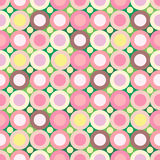 Roze-groene naadloze achtergrond Royalty-vrije Stock Foto's