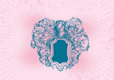 Roze grungeschild. Vector. Stock Afbeeldingen