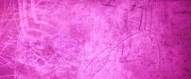 Roze grungetextuur als achtergrond - - Oude Grungy purpere muur met Royalty-vrije Stock Foto