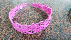 Roze hairband Stock Fotografie