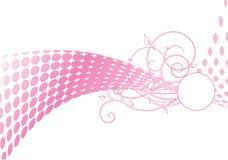 Roze halftone vector illustratie