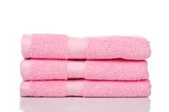Roze handdoeken Stock Foto's