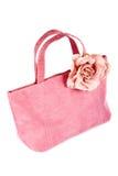 Roze handtas royalty-vrije stock afbeeldingen