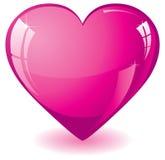 Roze Hart Stock Foto