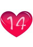 Roze hart Stock Afbeelding