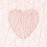 Roze hart royalty-vrije illustratie