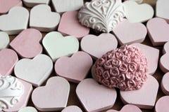 Roze hart Stock Foto's