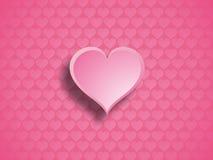 Roze hart. Stock Foto