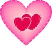 Roze hart Royalty-vrije Stock Afbeeldingen
