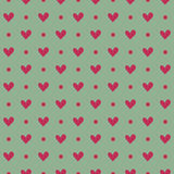Roze hart naadloos patroon op een lichte achtergrond Stock Afbeeldingen