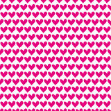 Roze hart naadloos patroon voor de Dag van Gelukkig Valentine Royalty-vrije Stock Foto
