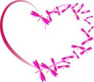 Roze hart van liefde stock afbeelding
