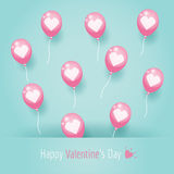 Roze hartballons royalty-vrije illustratie