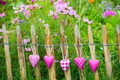 Roze harten Royalty-vrije Stock Foto