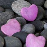 Roze harten Stock Afbeeldingen