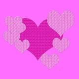 Roze harten Royalty-vrije Stock Afbeeldingen