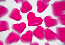 Roze harten royalty-vrije stock afbeelding