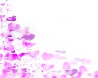 Roze Harten op witte achtergrond stock illustratie