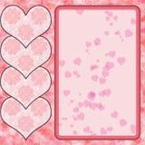 Roze hartontwerp Stock Foto's