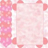 Roze hartontwerp Stock Foto
