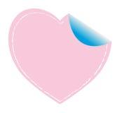 Roze hartsticker Stock Afbeelding