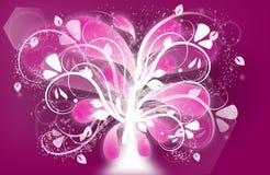 Roze hartstocht stock illustratie